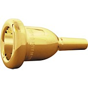 Bach Mega Tone Small Shank Trombone Mouthpiece in Gold