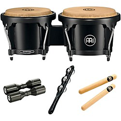 Meinl Bongo Hand Percussion Set with Free Shaker and Claves (BONGOSET1)