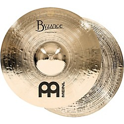 Meinl Byzance Medium Hi-Hat Brilliant Cymbals (B14MH-B)