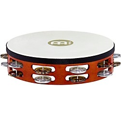 Meinl Goat-Skin Wood Tambourine Two Rows Dual Alloy Jingles (TAH2A-S-AB)