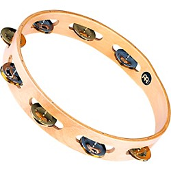 Meinl Recording-Combo Wood Tambourine One Row Dual Alloy Jingles (TA1M-SNT)