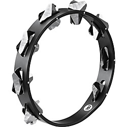 Meinl Super-Dry Studio Wood Tambourine One Row Stainless Steel Jingles (STA1S-BK)