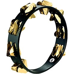 Meinl Super-Dry Studio Wood Tambourine Two Rows Brass Jingles (STA2B-BK)