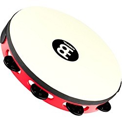 Meinl Touring Synthetic Head Wood Tambourine One Row (TAH1BK-R-TF)