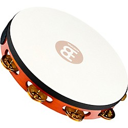 Meinl Traditional Goat-Skin Wood Tambourine Single Row (TAH1B-AB)
