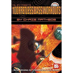 Mel Bay 100 Fretless Bass Workouts Book and CD (20702BCD)