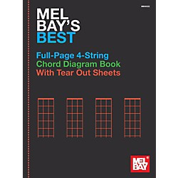 Mel Bay Mel Bay's Best Full-Page 4-String Chord Diagram Book (30222)