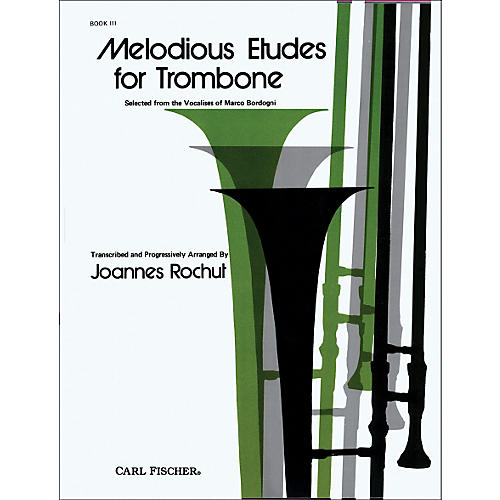 Carl Fischer Melodious Etudes for Trombone Series Book 3