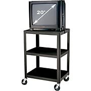 "H. Wilson Metal 34"" 3 Shelf Cart"