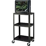 "H. Wilson Metal 42"" 3 Shelf Cart"