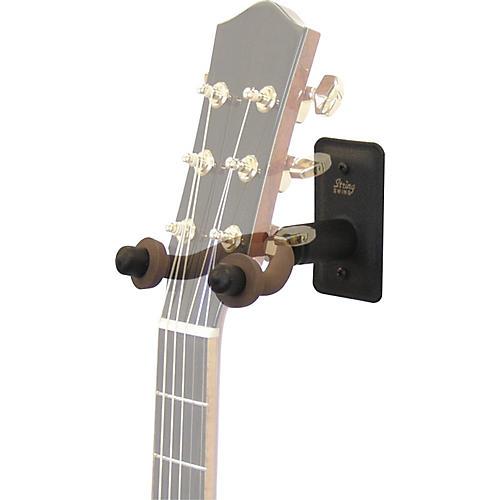 String Swing Metal Guitar Wall Hanger w/ Wall Bumper
