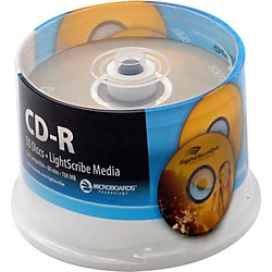Microboards LightScribe Recordable/Printable CD-R 52X (LS-CDR80-50Y)