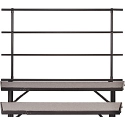 Midwest Folding Products Backrails for Standing Choral Risers For 3 Level, Straight (BRT24)