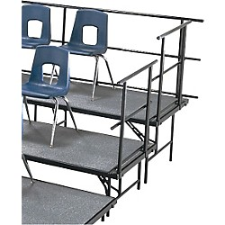 "Midwest Folding Products Sloping Guard Rails for Standing Choral Risers For 2 Level, 36"" High (GR3)"