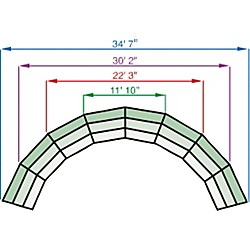 Midwest Folding Products Tiered Tapered Standing Choral Risers (RTRP4C)