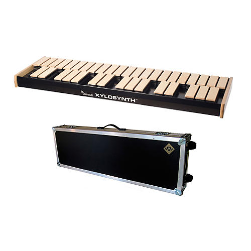 Wernick MkVI Blonde Birch Xylosynth w/LED Display, Flight Case and Accessories-thumbnail