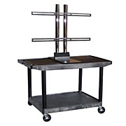 "H. Wilson Mobile Plasma/ LCD cart will hold up to a 50"" screen"