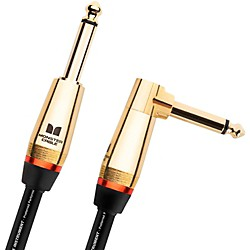 Monster Cable Monster Rock 1/4 Inch Angled to Straight Instrument Cable (600543-00)
