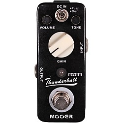 Mooer Thunderball Micro Fuzz & Distortion Bass Guitar Effects Pedal (ThunderBall)