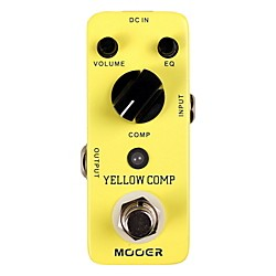 Mooer Yellow Comp Optical Compressor Guitar Effects Pedal (Yellow Comp)