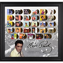 "Mounted Memories Elvis Presley ""The Number One Hits"" Framed Presentation (FRCEPRE795)"