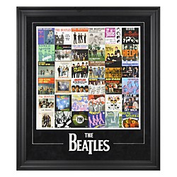 "Mounted Memories The Beatles ""Singles Around The World"" Framed Presentation (FRCEBEA713)"
