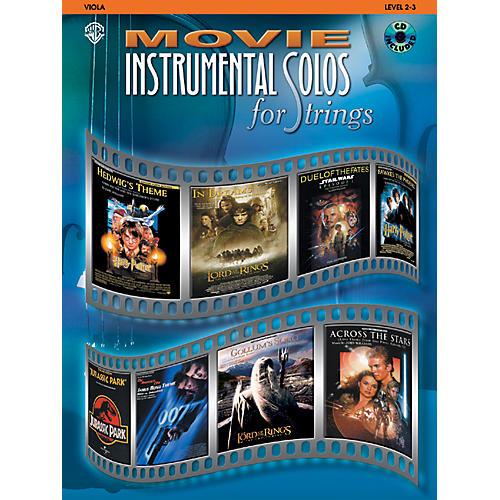 Alfred Movie Instrumental Solos for Strings Viola Book & CD