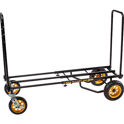 Rock N Roller Multi-Cart 8-in-1 Equipment Transporter Cart Black Frame/Yellow Wheels All-Terrain