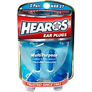 Hearos Multi-Purpose Series Ear Plugs 2 Pair + Free Case