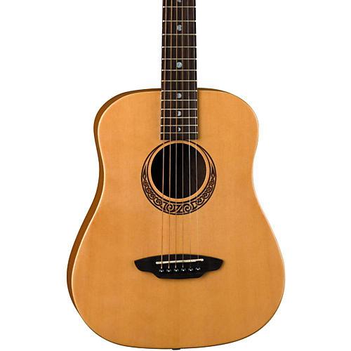 Luna Guitars Muse Safari Series Spruce 3/4 Dreadnought Travel Acoustic Guitar Natural