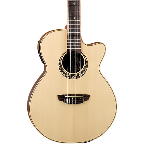 Luna Guitars Muse Series Folk Cutaway Nylon-String Acoustic-Electric Guitar Natural