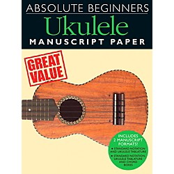 Music Sales Absolute Beginners - Ukulele Manuscript Paper (14042036)
