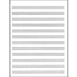 Music Sales Passantino Manuscript Paper #65 12 Stave, 32 Page, Spiral, 9X12 (14025115)