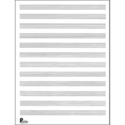 Music Sales Passantino Manuscript Paper Old #51, 12 Stave, 80 Pages, 9X12 (14025109)