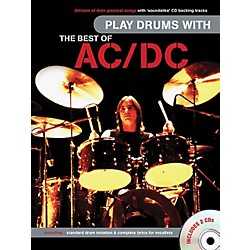 Music Sales Play Drums With The Best Of AC/DC (Book & 2 CD's) (14037642)