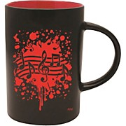 AIM Musical Note Burst Black/Red Caf Mug