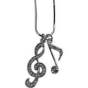 AIM Musical Note/Treble Clef Necklace