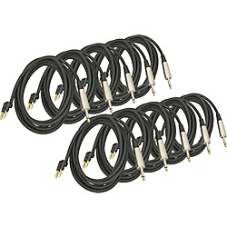 "Musician's Gear Banana-1/4"" Speaker Cable 14 Gauge 10' 10-Pack (SP14-10BAQTR 10-Pack KIT)"