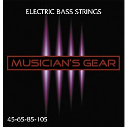 Musician's Gear Electric 4-String Nickel Plated Steel Bass Strings (HQ Bass 4 String)