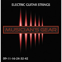 Musician's Gear Electric 9 Nickel Plated Steel Guitar Strings (HQ Electric 9-42)