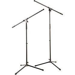 Musician's Gear Tripod Mic Stand with Fixed Boom (2-Pack) (MS-220 BK-MG KIT)