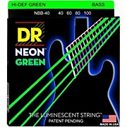 DR Strings NEON Hi-Def Green Bass SuperStrings Light 4-String