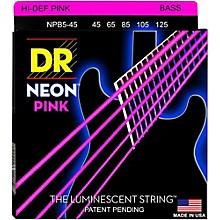 DR Strings NEON Hi-Def Pink Bass SuperStrings Medium 5-String