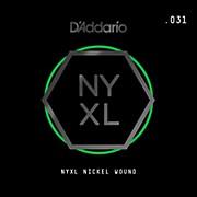 D'Addario NYNW031 NYXL Nickel Wound Electric Guitar Single String, .031