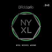D'Addario NYNW040 NYXL Nickel Wound Electric Guitar Single String, .040