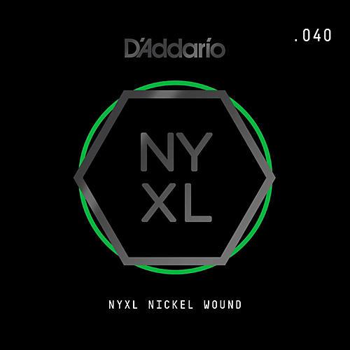 D'Addario NYNW040 NYXL Nickel Wound Electric Guitar Single String, .040-thumbnail