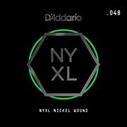D'Addario NYNW048 NYXL Nickel Wound Electric Guitar Single String, .048