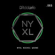 D'Addario NYNW065 NYXL Nickel Wound Electric Guitar Single String, .065