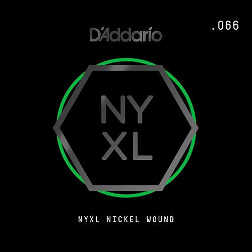 D'Addario NYNW066 NYXL Nickel Wound Electric Guitar Single String, .066-thumbnail