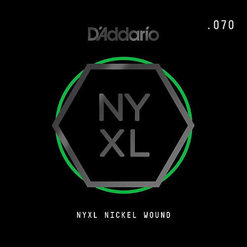 D'Addario NYNW070 NYXL Nickel Wound Electric Guitar Single String, .070-thumbnail